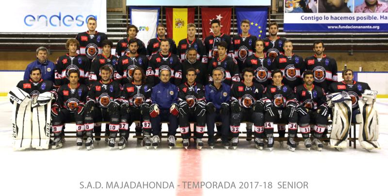 Hockey Hielo Majadahonda - Foto Oficial Senior 2017