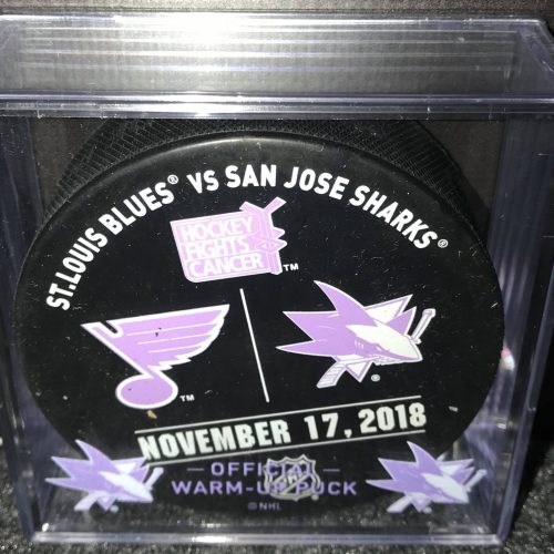 2018 San Jose Sharks vs St.Louis Blues HFC Warm up puck.