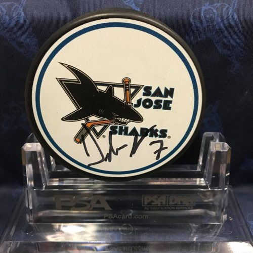 2019-2020 San Jose Sharks Foundation Mystery puck. Dylan Gambrell. Obtained from the Sharks Foundation.
