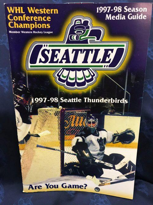 1997-1998 WHL Seattle Thunderbirds Media Guide. Patrick Marleau.