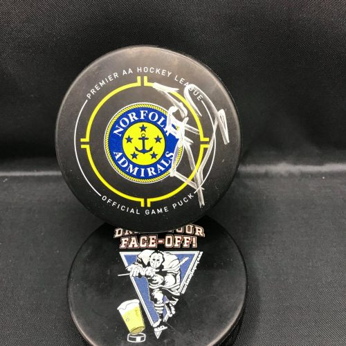 Norfolk Admirals AA Premier AA Hockey team official game autograph puck. #31