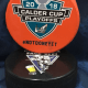 2018 San Jose Barracuda Calder Cup Playoffs official Souvenir puck. #notdoneyet