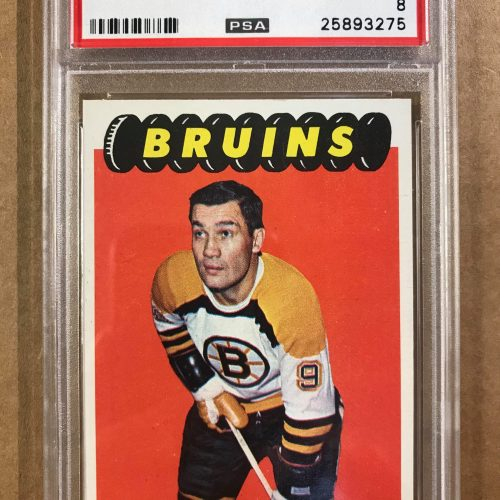 1965 Topps Hockey card. #101 Johnny Bucyk. PSA Graded NM-MT. PSA # 25893275.