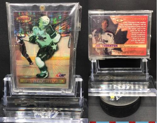 Bowmans Best Joe Thornton Refractor BB1 Hockey Card. Looking for PSA 10 Graded cards.
