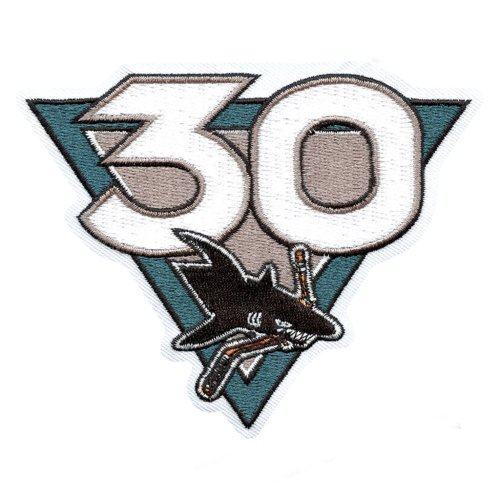 2021 San Jose Sharks 30th Anniversary patch.