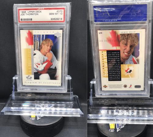 WTB 1996 UD PSA/Beckett Graded 9-10 San Jose Sharks Joe Thornton Rookie card # 370.