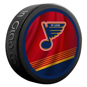 2021 St.Louis Blues 2 sided Official Retro jersey puck.
