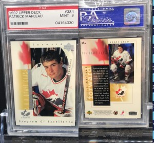 Looking to buy/Trade for PSA 9-10 1997 UD #384 Patrick Marleau Rookie Cards. Please send me a message if you can help me out. Thank you for looking!