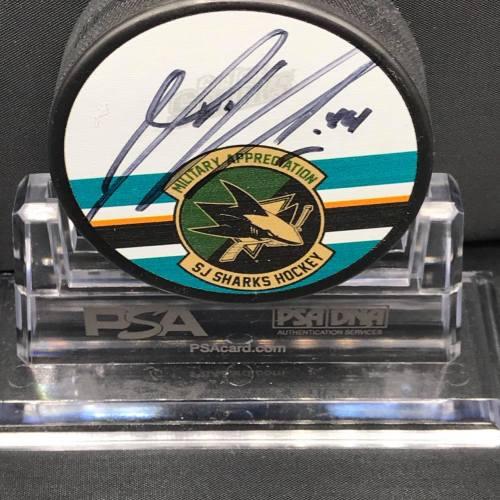 2015-16 San Jose Sharks Foundation Mystery Puck Series Limited Edition Puck. #44 Marc Edouard Vlasic.
