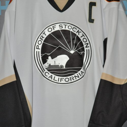 2017-18 Stockton Heat.  #10 Rod Pelley. Heat Port of Stockton Jersey. CCM. Size 58