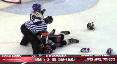 LNAH – Multiple Fights in Semi-Final Game! – 4-18-2013