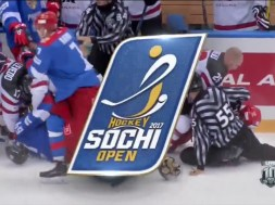Russia vs Canada Pre-Olympic Scrum (Sochi)