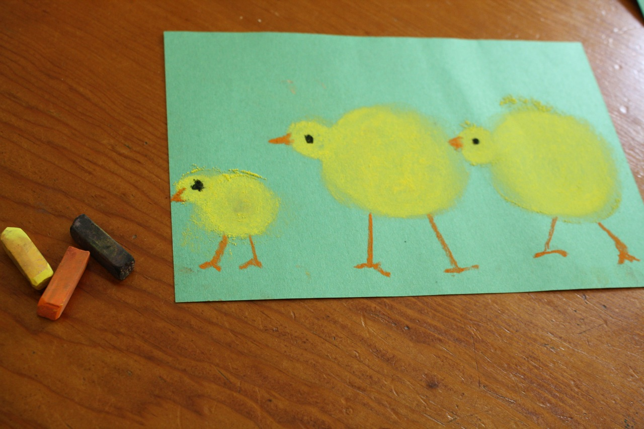 Three Little Chicks A Pastels Tutorial