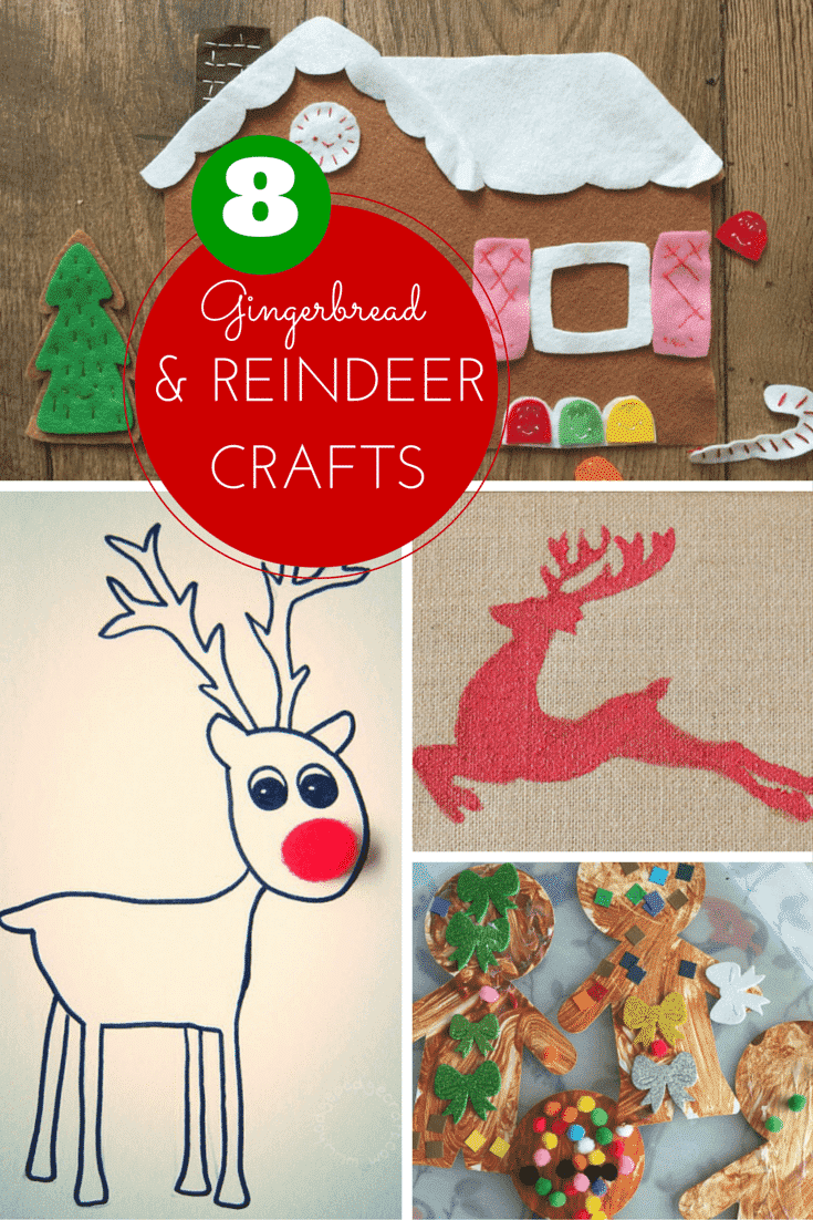Gingerbread And Reindeer Crafts For Christmas