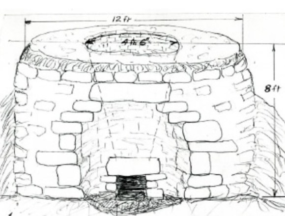 A lime kiln in Newton Abbot