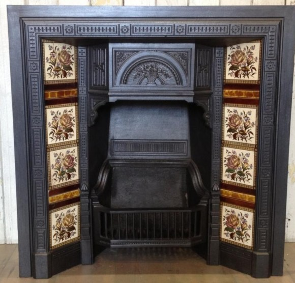 A typical antique victorian fireplace