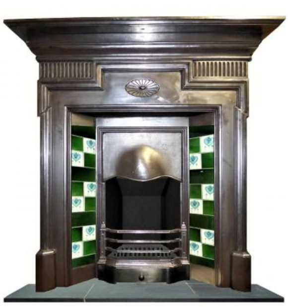 An edwardian antique fireplace
