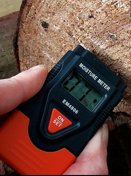 Moisture tester, used to the check the moisture content for logs and to check there suitability. Hodgsons Chimney Sweeps carry moisture as part of their essential kit