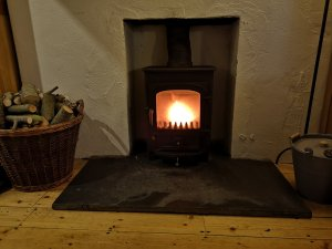 Clearview pioneer 400 multifuel stove, swept, serviced and refurbished by Hodgsons Chimney Sweeps Brixham