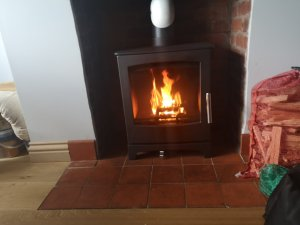 Beech 1 Multifuel Stove installed in the Exeter Districts by Hodgsons Chimney Sweeps, Hetas Registered Installers and Sweep Safe Certified Chimney Sweeps