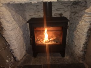 Wood Burning Stove Serviced at the Bayards Cove Inn Dartmouth