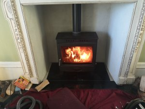 A pair of Arada Ecoburn 11kw Stoves chimneys Swept and Serviced in Chudleigh