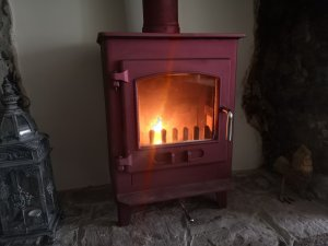 Beautiful Dean Forge Mojave Red Woodburning Stove, Swept and Serviced in Ivybridge