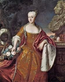 1700s Johann Salomon Wahl (1689-1765) Portrait of Princess Charlotte Amalie af Danmark (1706-1782)