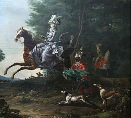 1783 Louis-Auguste Brun (1758-1815) Marie-Antoinette hunting