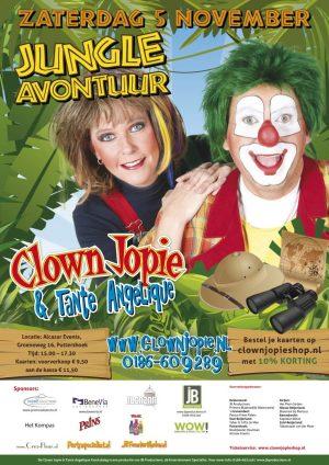 poster-jungle-avontuur-clown-jopie-en-tante-angelique