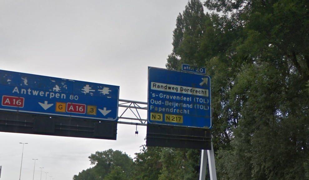 Afrit 20 's-Gravendeel) op de A16 woensdag 13 op donderdag 14 november afgesloten - Hoeksche Waard Nieuws - Hoeksche Waard Nieuws