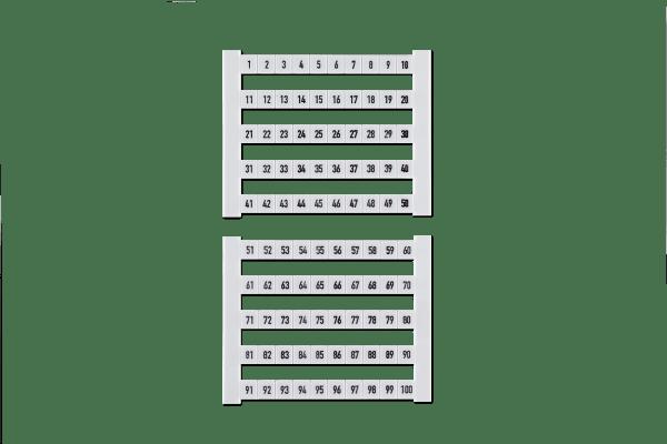 • 10 Karten á 50 Stk. Klemmenmarkierer