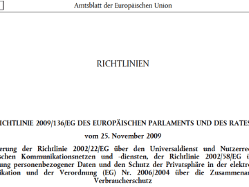 Richtlinie 2009/136/EG