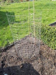 Rohbau des Kartoffelturms