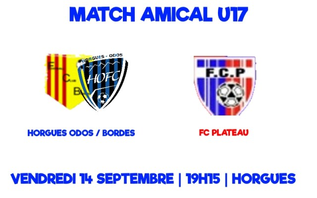 [U17] premier match amical pour l'entente