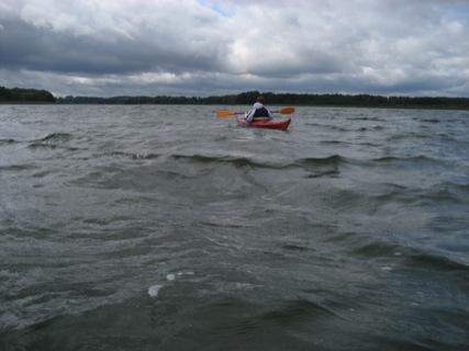 Paddeln auf dem See
