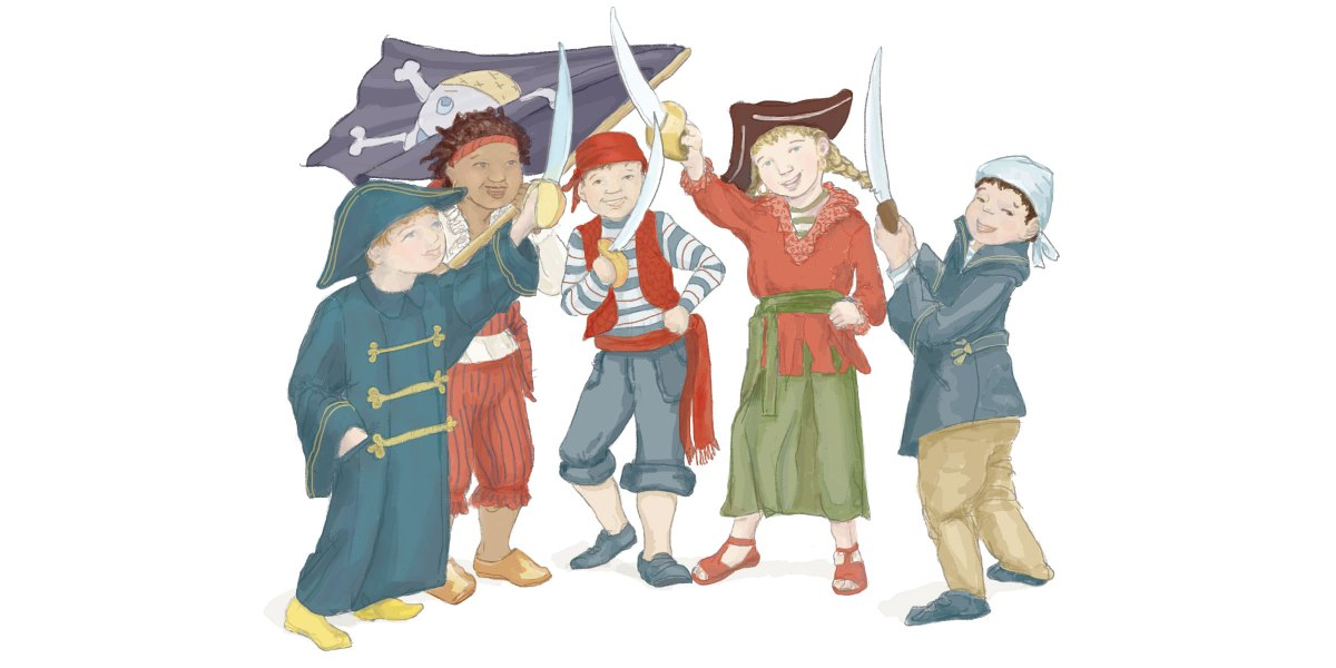 All for one and one for all! We are the pirate kids!
