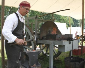 Hoffman's Forge will demonstrate historically correct 18th. century military traveling forge, equipment and clothing at the living history re-enactment at Germanna.