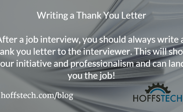 Writing A Thank You Letter