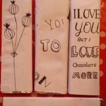 handlettering chocoladereep 3