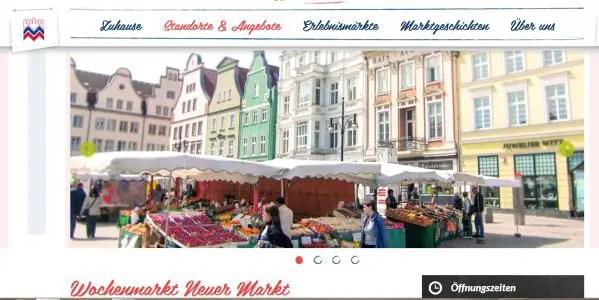 Wochenmarkt Rostock Neuer Markt Wochenmarkt Bauernmarkt Rostock