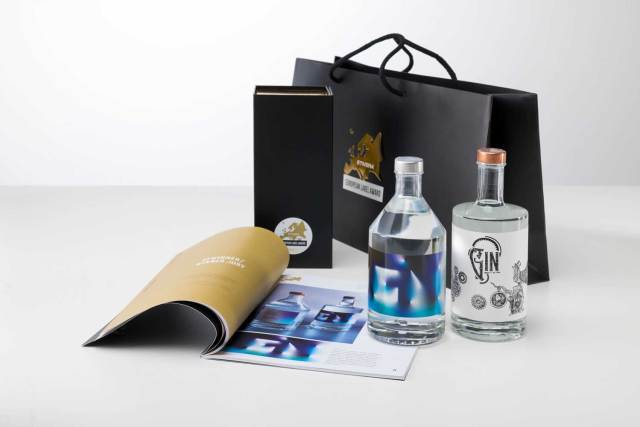 schönste Gin-Etikett Das Sieger-Design des Etivera European Label Award.