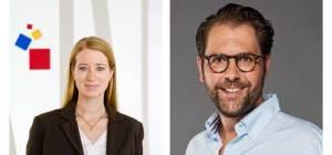 Kerstin Horaczek (Messe Frankfurt) und Fabio Ziemßen (BALPro) freuen sich auf die Zusammenarbeit zur IFFA 2022