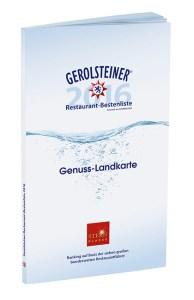 """Gerolsteiner Restaurant-Bestenliste 2016 obs/Gerolsteiner Brunnen GmbH & Co. KG"""""""