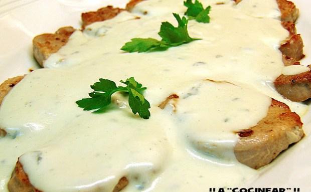 solomillo con salsa roquefort