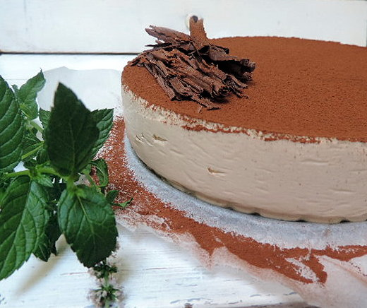 tarta mousse de cafe y chocolate