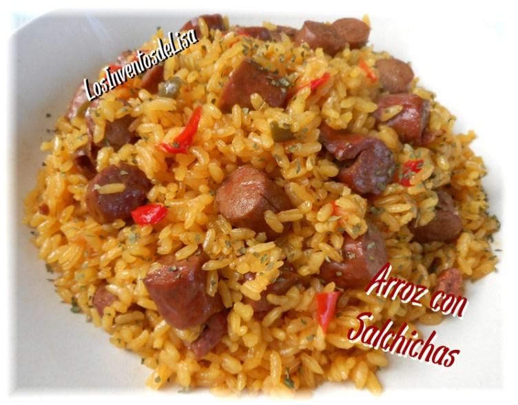 arroz-con-salchichas
