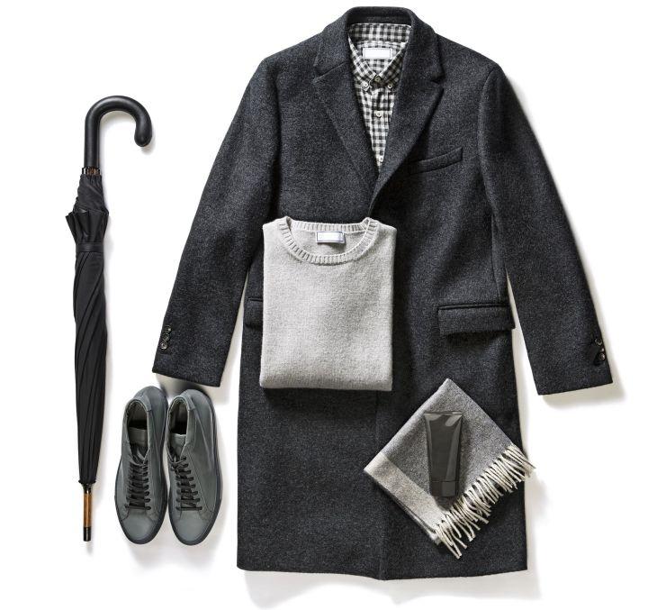 formal look man gray winter