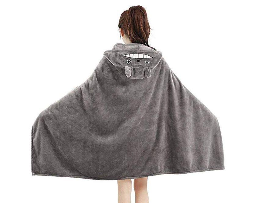 Totoro hooded blanket.