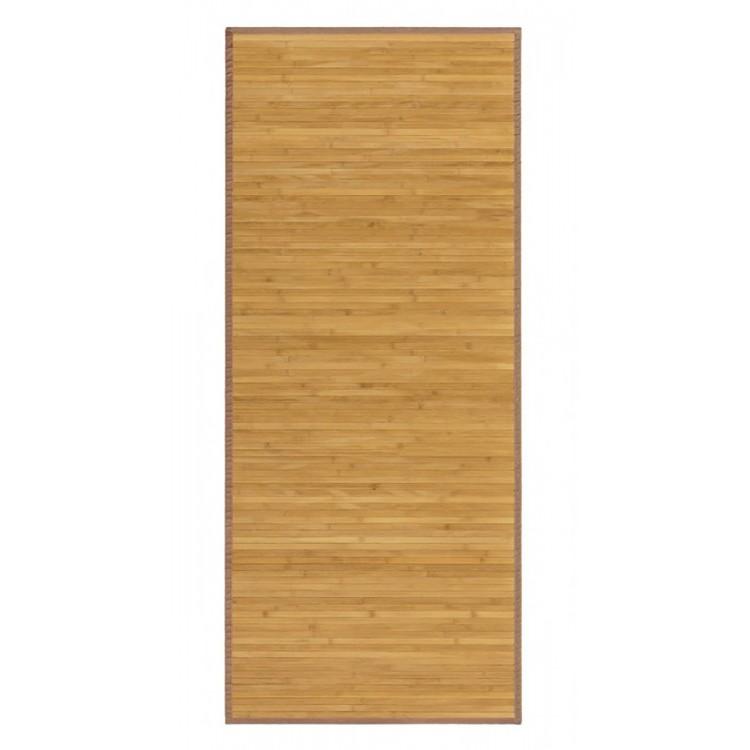 Tapis En Bambou Naturel De Couleur Bois Naturel Avec Anti Derapant De Couloir Entree 60x200cm Maison